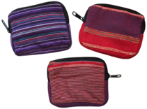 Set of 3 Cotton Pouches Handmade in Nepal