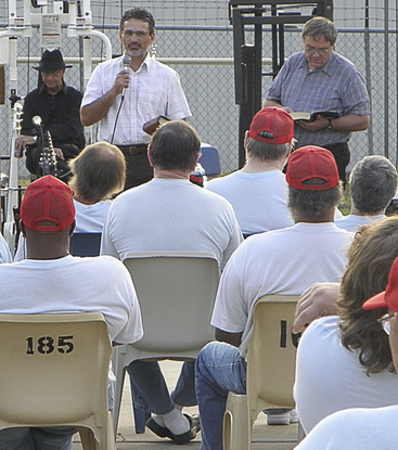 Preaching at Guitars prisons schools 2013 Oswego