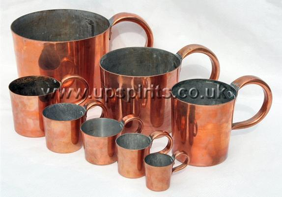 Copper rum measures-Round-Royal Navy