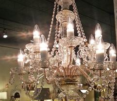 lighting repair and restoration chandelier crystal example of our work restoration artistry