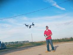 A person doing aerial photography in Mansfield, OH
