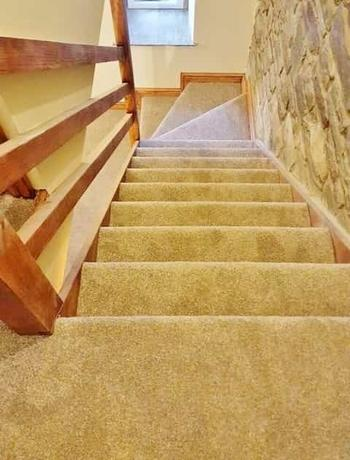 Beige Colour Stair Carpet
