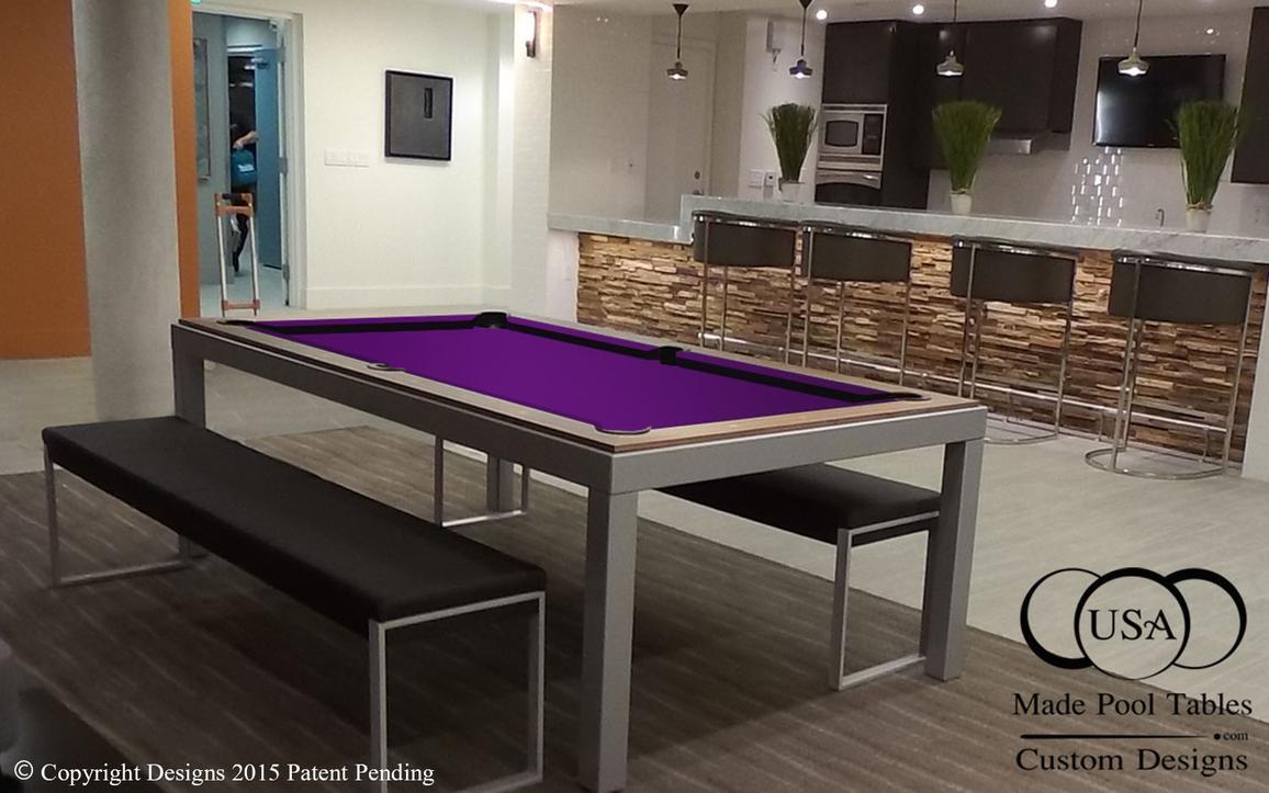 Fusion Industrial Pool Table Steel Pool Table Metal Pool Table - Pool table conference table