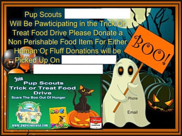PupScout,Halloween,Dogs,Cats,Event,FoodDrive,Pup Scouts