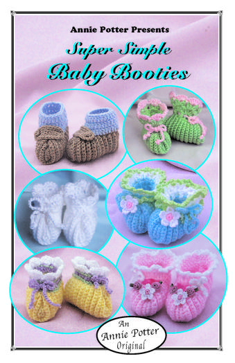 Easy Crochet Baby Bootie pattern