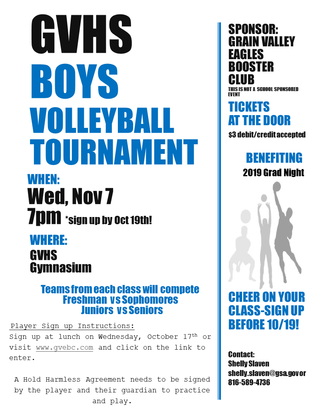 Grain Valley High School Boys Volleyball Tournament