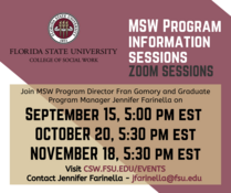 FSU School of Social Work MSW Program Information Sessions