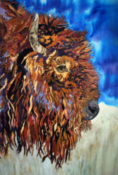 Silk Painting, Buffalo, Tracy Harris Artist