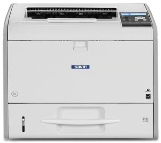 Ricoh/Savin SP 4510DN black and white printer, affordable, fast, business-class, consistent, 42 page per minute print speeds, 1200 by 1200 dpi print resolution, mobile printing, smartphone and tablet printing, low price, budget friendly, small office, small workgroup device sold by Cedar Rapids Photo Copy, Inc. (CRPC, Inc.) in Cedar Rapids, Iowa. Eastern Iowa/Corridor area's leader in office printing technology and general office technology since 1965.