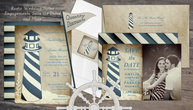 weddings invitation suites for floral, rustic, nautical, herbal, nature, elegant and sophisticated weddings