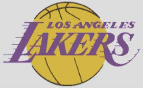 Los Angelese Lakers Cross Stitch Chart Pattern