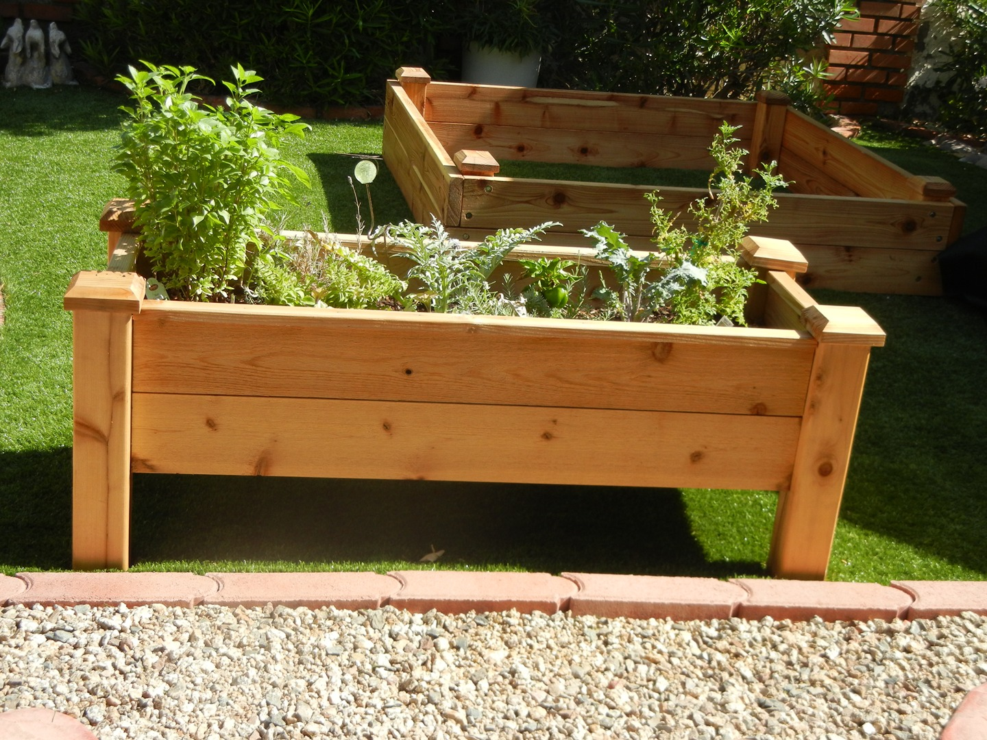 blog how to build a raised garden bed on sloping above ground garden