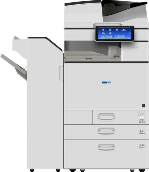 "The Savin MP C4504ex color multifunction printer/copier. Capable of 45 page per minute print, copy speeds. Scanning speeds up to 180 images per minute, 10.1"" Smart Operation Panel with extended service and support capabilities to increase device uptime, 220-sheet Single Pass Document Feeder with Automatic Duplex. Capable of output on paper sizes up to 12"" x 18"", and a maximum paper capacity of 4,700 sheets. Finishing capabilities include stapling, hole punching, booklet folding, half folding, saddle stitch stapling, and shift-sort collating. Sold by Cedar Rapids Photo Copy, Inc. in Cedar Rapids, IA. Your local office printing technology and general office technology experts since 1965. Serving the Cedar Rapids metro, Iowa City metro, Cedar Falls/Waterloo metro, and all of Eastern Iowa."