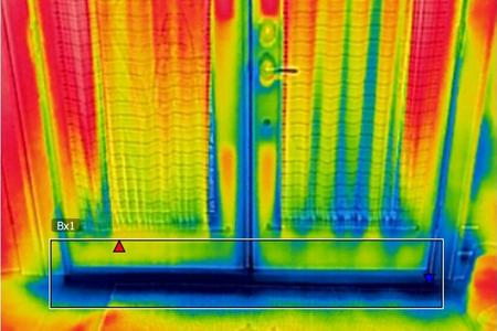Thermal image of rodent entry