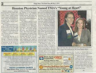 Angela Fisher Wins TMA YPS Young at Heart Award