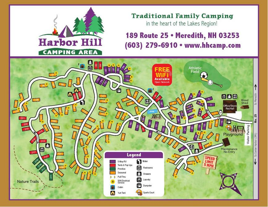 picture of road map of campground