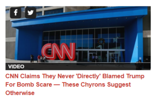 CNN CLAIMS THEY NEVER 'DIRECTLY' BLAMED TRUMP FOR PIPE BOMBS