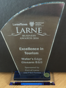 Water's Edge Glenarm - Tourism Award