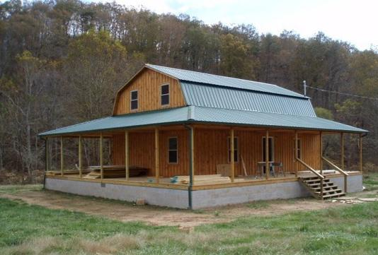 Gambrel cabins for Cheap house wrap