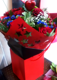 Red Rose Hand tied Bouquet | Flower Bouquets | The Little Flowershop