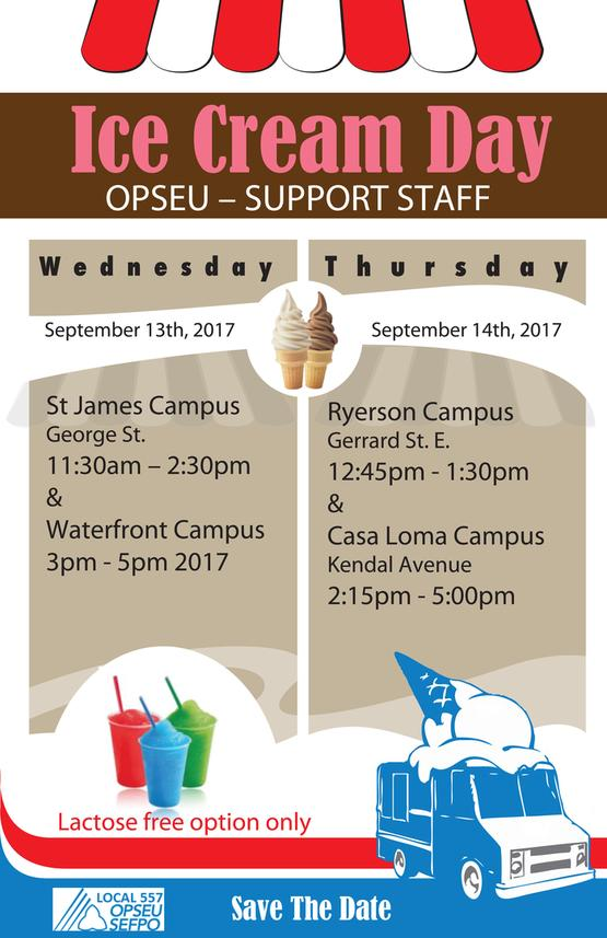 OPSEU – SUPPORT STAFF Ice Cream Day