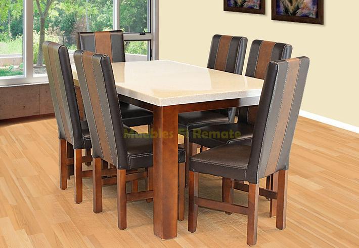 Mesa en granito procesado para 6 personas en monterrey for Muebles baratos remate