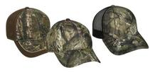 Embroidered Structured Camo Caps