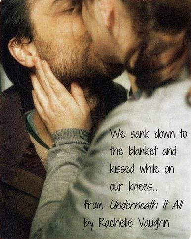 Underneath It All by Rachelle Vaughn sexy romance book quote