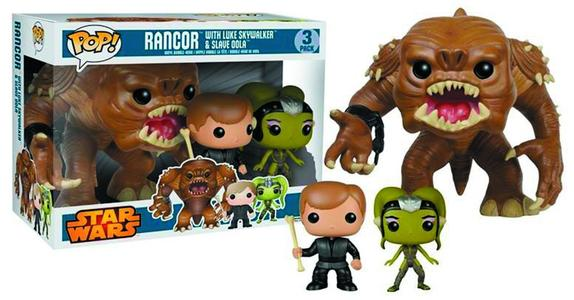 pop! star wars rancor luke