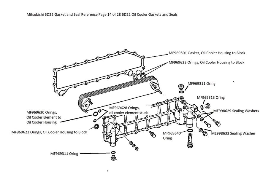 Mitsubishi 6D22 Gasket and Seal Reference Page 14 of 28