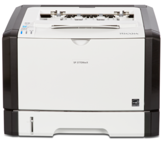 Ricoh/Savin SP 377DNwX black and white printer, affordable, fast, business-class, consistent, 30 page per minute print speeds, 1200 by 1200 dpi print resolution, low price, budget friendly, small office, small workgroup device sold by Cedar Rapids Photo Copy, Inc. (CRPC, Inc.) in Cedar Rapids, Iowa. Eastern Iowa/Corridor area's leader in office printing technology and general office technology since 1965.