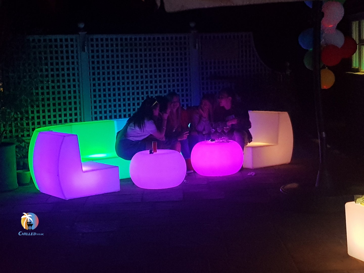 Illuminated LED Furniture Hire for events in London & UK