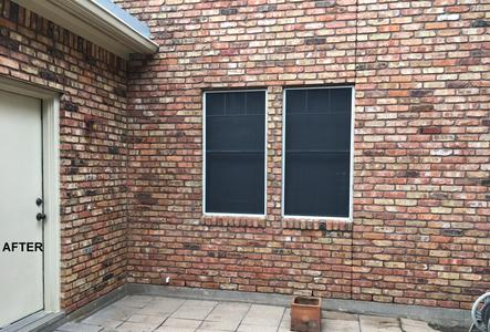 exterior house washing brick in Tomball Texas after