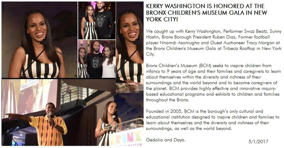KERRY WASHINGTON IS HONORED IN NEW YORK CITY