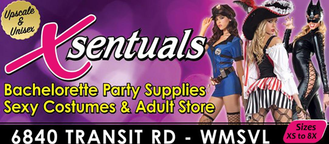 Xsentuals lingerie & adult store is now OPEN! Sexy Halloween Costumes on Sale