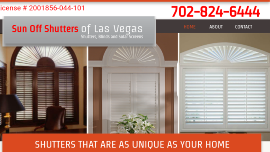 Shutters Las Vegas service by Sun Off Shutters of Las Vegas