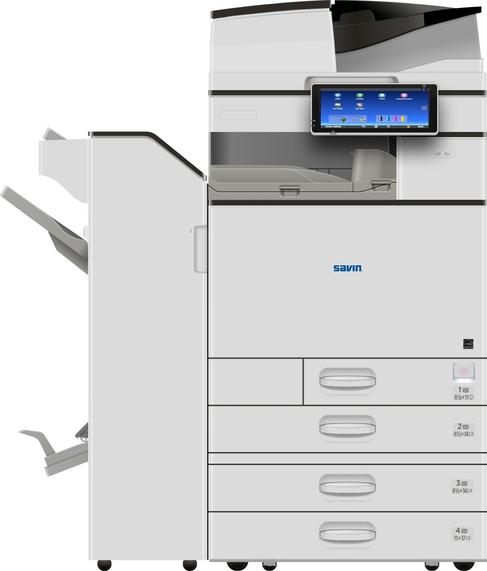 "The Savin MP C6004ex color multifunction printer/copier offers 60 page per minute print and copy speeds, up to 180 image per minute scanning speeds, a 220-sheet Single Pass Document Feeder with Automatic Duplex, and 10.1"" Smart Operation Panel with extended service capabilities that provide better system uptime. This device can accommodate paper sizes up to 12"" x 18"" and has a maximum paper capacity of 4,700 sheets. For end-to-end document production, a full-suite of finishing options are available including a Booklet Finisher, 500-sheet Internal Finisher, 250-Sheet Internal Stapleless Finisher, and 1,000-Sheet Hybrid Finisher for stapled or staple-less output. Sold by Cedar Rapids Photo Copy, Inc. in Cedar Rapids, IA. Your local office printing technology and general office technology experts since 1965. Proudly serving the Corridor, Cedar Rapids metro, Iowa City metro, Cedar Falls metro, and all of Eastern Iowa."