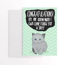 new baby card with cats