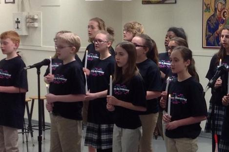 junior high choir performance