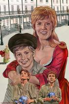 Shani Wallis and Mark Lester (acrylic on board) by Cliff Carson