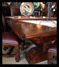 FG C06 96  Hand Carved Plank Top Mesquite Dining TableMesquite. Mesquite Dining Room Tables. Home Design Ideas