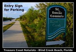 Blind Creek Beach, nude beach, naturist beach, free beach, clothing optional beach, naturism, nudism, nudist, nudie, Treasure Coast Naturists, Hutchinson Island, Fort Pierce, Ft Pierce, St Lucie County