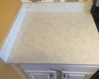 Pental Vicostone Quartz counter top with Eased Edge made in Greenwood, DE.