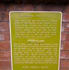 Plaque in Cheltenham commemorating the Third Test