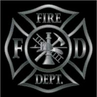 Cross Stitch Chart of Fire Dept Maltese Cross in Black