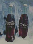 Cross Stitch Chart Pattern of 2 Coca Cola Bottles