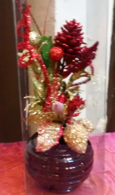 Decorative Christmas vase | Gifts | The Little Flowershop