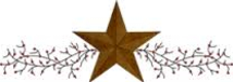 Sherry's Country Crafts star and berry logo
