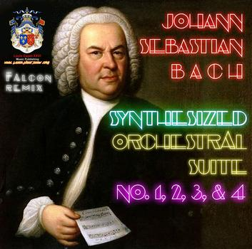 Falcon remixes the complete Johann Sebastian Bach Orchestral Suite Series with modern day synthesizers. Over 1 hour of music! Easy Listening, but also very fast paced, UP-BEAT, & modern. Just in time for Holiday Shopping, this set includes 24 masterpiece songs digitaly remastered with latest in synthesizer technology. This is a great gift for all ages from young kids to seniors. Available in Stores 12/10/2016