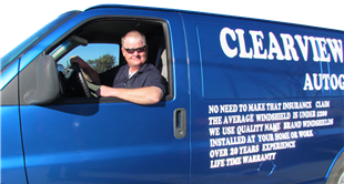 clearview autoglass blue van windshield repair and replacement mobile service high desert california hesperia victorville barstow apple valley